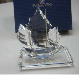 SWAROVSKI CRYSTAL CHINESE JUNK WITH BASE
