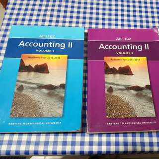 AB1102 Accounting II - Vol 1&2 ($10 for 2)