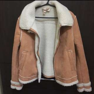 FREE SF! H&M Faux Fur and Suede Jacket