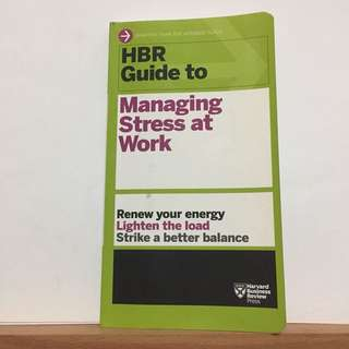 Managing Stress at Work (HBR Guide)