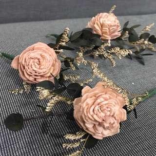 🚚 新娘飾品(乾燥花飾,6支1組)
