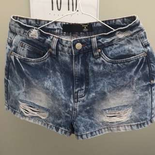 Factorie High Waisted Shorts, Size (8)