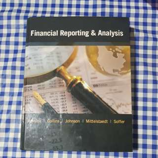 Financial Reporting & Analysis 6th Edition (can be used as FSA textbook)