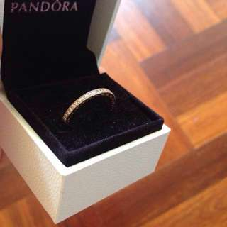 Hearts of pandora rose gold ring Sz 58