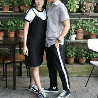Black and white oversized pants