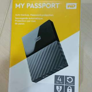 WD My Passport Ultra 4TB WD my passport 4TB portable hard drive