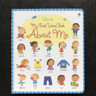 💥 NEW - Usborne- My First Word Book About Me (My First Word Books)  - Sturdy Board Book - Children Learning Book