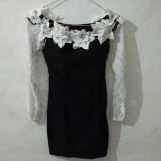 preloved korean lace dress