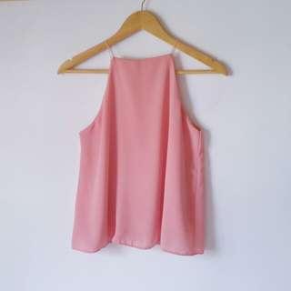 String Halter Top (Pastel Pink)