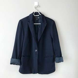Authentic Forever 21 Midnight Blue Oversized Blazer Dec