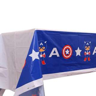 💥 Superheroes Cartoon Capt America party supplies - tablecloth / table cover