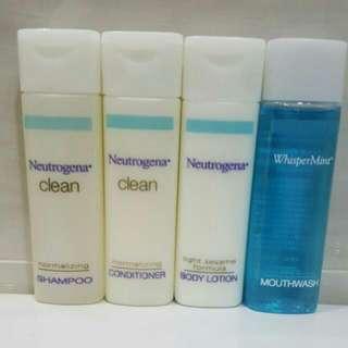 🆕Brand New Neutrogena Hair Shampoo + Conditioner + Body Lotion + Mouth Wash