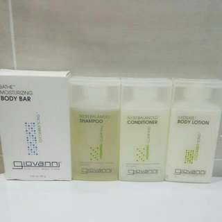 🆕Brand New Giovanni Eco Chic Hair Shampoo + Conditioner + Body Lotion + Bath Moisturizing Body Bar