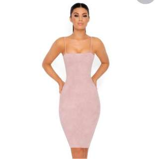 🎀 *Brand New*  Oh Polly  *Suede Mauve Dress*  *Size 6*