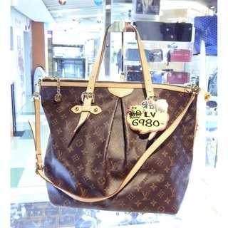 LV Louis Vuitton Brown Monogram Shoulder Hand Bag 路易威登 啡色 LV花 老花 手挽袋 手袋 肩袋 袋