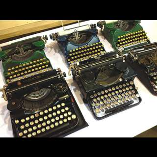 Antique Portable Typewriter Collection