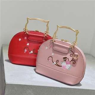 Cat sling hand bag