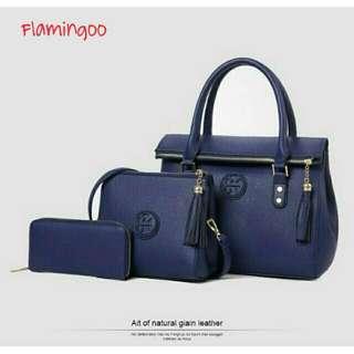 Handbag 3in1 Set Biru