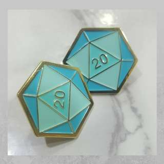 D20 Enamel Pin (Great Christmas Gift under $10)