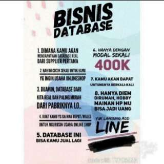 Jual/bisnis database supplier first hand