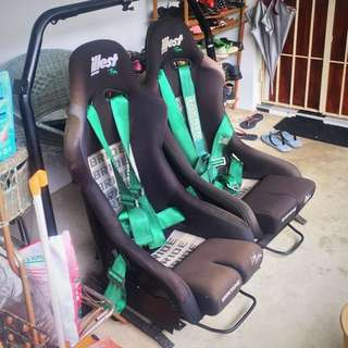 BRIDE ILLEST Replica Bucket Seat L&R
