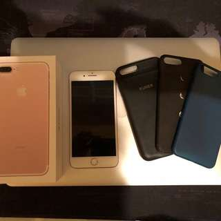 iPhone 7 Plus rose gold 32GB 連kuner battery sd card case