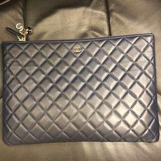 Chanel navy blue clutch bag 袋