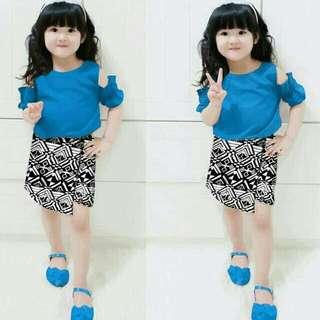 Dress batik anak perempuan usia 2-4 th