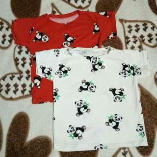 Panda baby shirt (bundle)