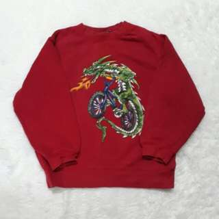 (5-6Y) Dragon red sweater