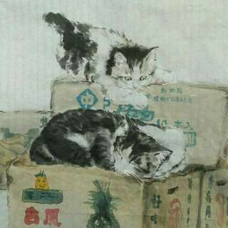 國畫 貓 非印刷圖