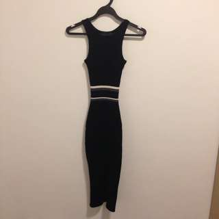 MDS Stretchable Black Sleeveless Dress