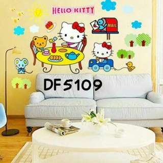Wall Sticker Uk. 60x90cm Motif Hellokitty Tea Time