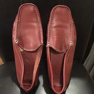 TODS driving shoes RED