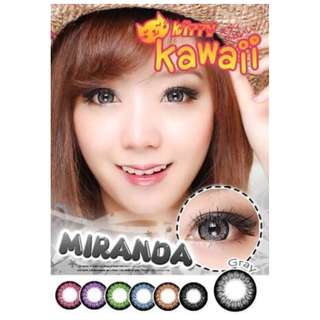Miranda Series Contact Lens - Gray/Brown