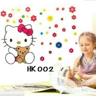 Wall Sticker Uk. 60x90cm Motif Hellokitty & Bear