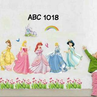 Wall Sticker Uk. 60x90cm Motif Disney Princess