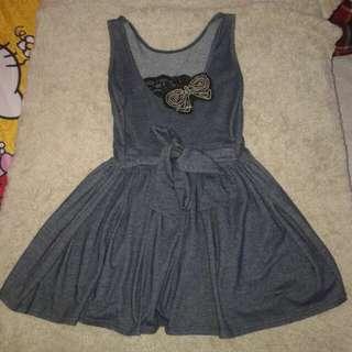 Dress flare dark grey