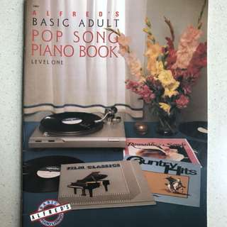 Alfred's Basic Adult Pop Song Piano Book (Level 1)