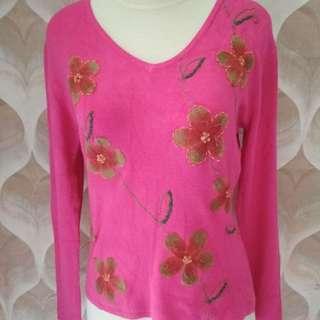 atasan korea pink
