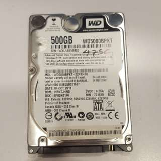 """Lelong offer !!! Wd 500gb 2.5""""hdd for laptop"""
