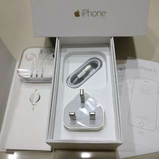 (NEW) IPHONE 6 BOX &ALL ACCESSORIES INCLUDED
