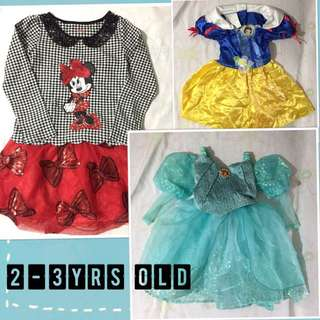 Authentic Disney Store girl's character dresses