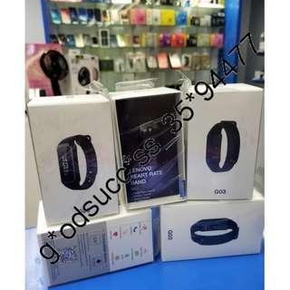 Lenovo G03 智能手環 | 運動 | 防水 | 心率監測/ / 穿戴手錶腕帶
