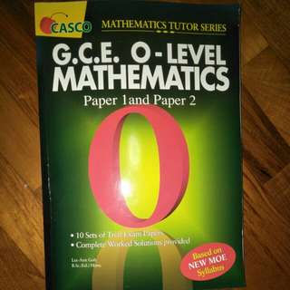 GCE o level maths practice paper