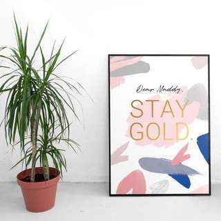 Customisable Framed Print with Gold finishing