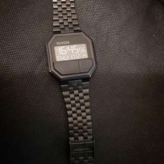 Nixon The Re Run Robot Rock ( Black Stainless Steel) Rare