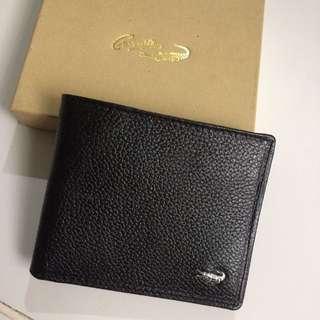 Dompet Merek Crocodile (replika), Size 10.5x8.5cm, warna hitam, 8 saku kartu, 2 saku untuk uang lembar.