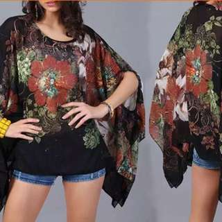 LADIES GORGEOUS KAFTAN/TOP COLD SHOULDER