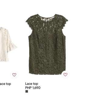 H&M lace blouse - BNWT